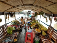 The floating fruit market.