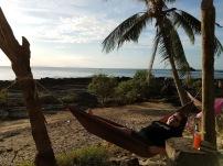 Enjoying the sunset from Rock Beach Bar on Koh Lanta