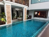 Courtyard pool - host to daily tea time and happy hour!
