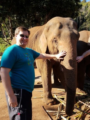 """You tell the elephants they are doing a good job by saying """"deedee"""" (which is what the mahouts say)."""