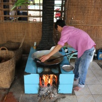 Making the coconut paste - everything is done by hand. Almost everyone in the workshop was related.