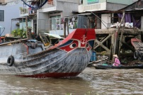 """All the boats have eyes painted on the bow to scare off the """"monsters"""" they used to believe lived underwater."""