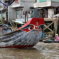 "All the boats have eyes painted on the bow to scare off the ""monsters"" they used to believe lived underwater."