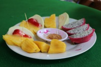 Jackfruit, water apple, pineapple, dragon fruit...