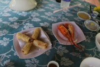 Spring rolls with prawn (we really debated whether they were actually crawfish).