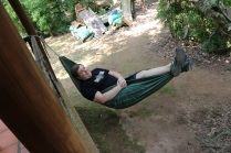 Post-lunch hammock time, as insisted by the owner.