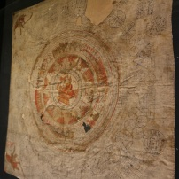 A Buddhist yantra cloth.