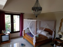 Our room - thank goodness this mosquito net was for decoration only... unlike Thailand!