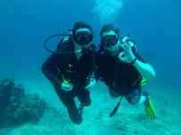 We love diving together!