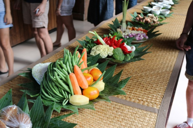 The ingredients were beautifully displayed before the class started.