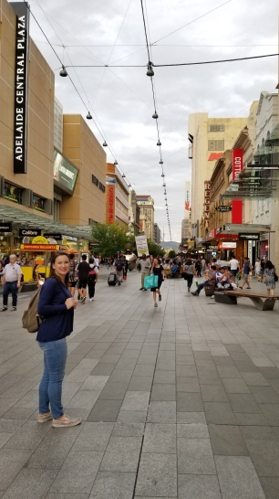 Walking around Rundle Mall