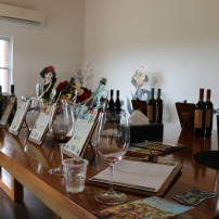 At Molly Dooker, you get to taste 12 different wines!