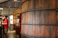 Old school wine barrels at Kay Brothers.
