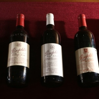 Grange bottles that are undoubtedly very deliciously aged by now!