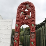 Each piece of the carving tells the story of the Maori people. They believed every object contains life.