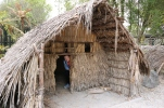 A Maori hut. The small doors helped with temperature control.