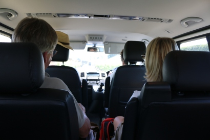 A four-person wine tour - much more our speed than the 10-person tour in Napier.