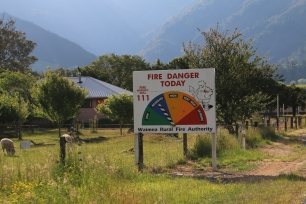 These signs are every few miles - fire is a dangerous hazard here.